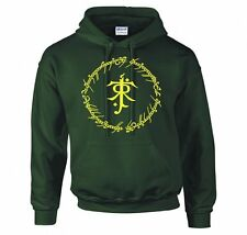 "LORD OF THE RINGS/ THE HOBBIT ""TOLKIEN RING INSCRIPTIONS"" HOODIE NEW"