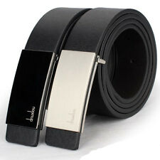 New Mens Automatic Buckle Leather Formal Waist Strap Belts Buckle Belt Excellent