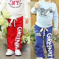 Kid Baby Boys Cotton Rainbow Pattern Long Pants Casual Trousers Bottoms 2-6Y M10