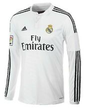 New Real Madrid 14/15 Home Jersey Long Sleeves in Size S, M, L, XL