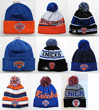 NY Knicks Cuffed Beanie Winter Cap Hat NBA Authentic