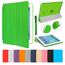 Ultra Slim Magnetic Leather Stand Smart Cover Back Case For Apple iPad 4 3 2
