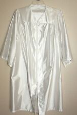 White Graduation Gown Angel Costume Shiny Adult or Child Size Choir Clergy Robe