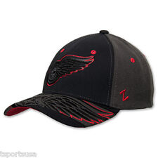 Detroit Red Wings Hat Zephyr Dark Ice Curved Bill Fitted Hat NHL Baseball Cap