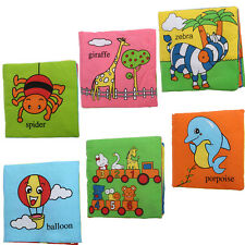 1Pcs Soft Cloth Baby Intelligence Development Learn Picture Cognize Book Funny