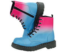TUK Pink Blue Ombre Anarchic Boots Alternative Goth Punk