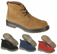 Ladies Ankle Desert Boots Designer Chunky Heel Lace up Riding Womens Shoes Size