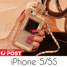 Luxury Bling Diamond Crystal Bow Perfume Bottle Chain Case for iPhone 5 5S