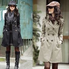 New EU Fashion Women's Long Style windbreaker Trench Coat Jacket Slim Outwear