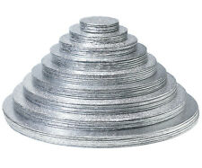 Silver Cake Boards 1.7mm Round Turned Edge 6, 7, 8, 9,10 11 Or 12 Inch