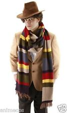 Doctor Who Fourth 4th Dr. Knitted 6-Color Striped Scarf with Tassels Costume Pro