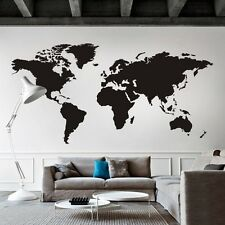 World Map Wall Decal Big Global Vinyl Office Nursery Bedroom Graphic Decor Large