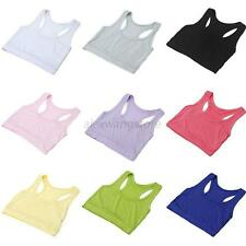 Ladies Girls Wrapped Chest Sports Bra Tube Top Casual Bottoms Vest Cropped Tops