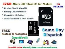 TOP QUALITY 32GB MICRO SD MEMORY CARD CLASS 10 WITH ADAPTER FOR MOBILE PHONES