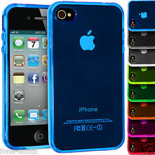 Translucent Flexible Rubber Gel Grip TPU Case Cover For Apple iPhone 4/4s