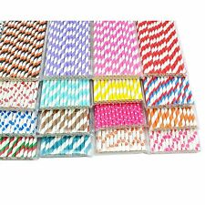 25pcs Colorful Paper Drinking Straws for wedding Halloween Baby Shower party