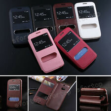 Fashion Flip S-View Window PU Leather Stand Holder Cover Case For Samsung/Apple