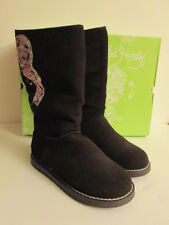 ED HARDY WOMENS BROWN BOOTSTRAP BOOT