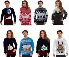 Mens Ladies gift Jumper Sweater Retro Christmas Xmas Reindeer Novelty Fairisle