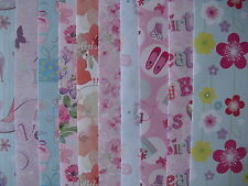 10 - 50 SHEETS OF GOOD QUALITY ASSORTED CHILDREN'S CHRISTMAS WRAPPING PAPER