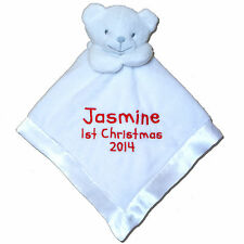 Personalised Comforter Blanket Gift Babys First Christmas 2017