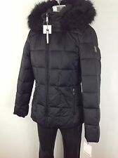 Calvin Klein NWT BLACK  Down Jacket with Hood and Removable Faux fur