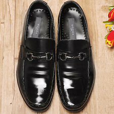 Motion Black Leather Mens Dress Loafers Shoes