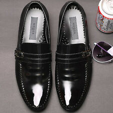Embio Black Leather Mens Dress Loafers Shoes