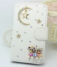 Bling Sky Wallet Card Holder PU Leather Flip Pouch Case Cover for HTC phones