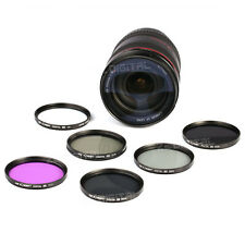 49 to 77 UV Slim CPL FLD ND2 ND4 ND8 Lens Filter Kit For Canon Nikon DSLR Camera