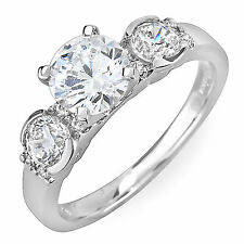 Antique Style 3 Stone EGL 2.46 Carat Round Cut Certified Diamond Engagement Ring