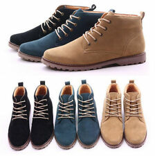 Men's Winter Casual Suede Leather High Top Military Comfy Shoes Ankle Boots T205