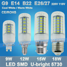 Dimmable LED Lamp 9W~21W Corn Bulb E27 E14 B22 G9 12W 15W 18W AC 110V 220V Light