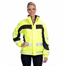 Equisafety Aspey Winter Jacket - Hi Viz Reflective Horse Riding Jacket - Yellow