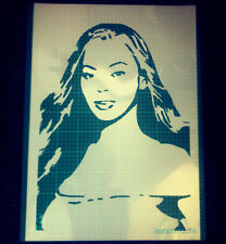 Beyonce reusable STENCIL for home wall interior decor / Not a decal