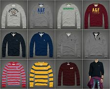 New Abercrombie & Fitch Men's Long Sleeve Henley & Crew Tee Sz S, M, L, XL, XXL