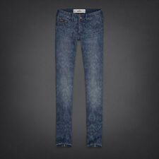 HOLLISTER WOMEN'S OVER-PRINTED SUPER SKINNY ANKLE JEANS SIZE  3