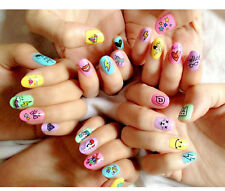 2015 Retro Cool Colorful Design Nail Art Water Decal Sticker-USA Seller