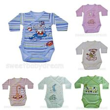 Long Sleeve Soft Cotton Bodysuits 3-6 months***100%Cotton***Clipped at the side.