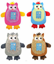 OWL HOT WATER BOTTLE WITH SOFT PLUSH ANIMAL COVER FLUFFY WINTER GIFT
