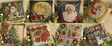"""Christmas Jacquard Tapestry Decorative Throw Pillow Case Cushion Cover 15x15"""""""
