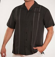 New After Dark Mens Big & Tall Short Sleeve Retro Bowling Style 1160 Shirt 2 clr