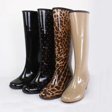 new Fashion Womens Rain Boots Rubber 4 style Ladies Wellies Mid-Calf boots shoes