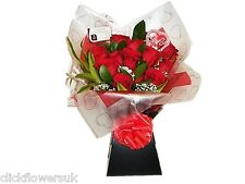 Fresh Real Flowers Delivered Premium Red Rose Selection Bouquet