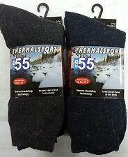 THERMAL INSULATING 6 PK.SOLID COLORS WINTER SOCKS TEMPERATURE RATED UP TO -25*F