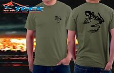 Navy Seals Skeleton  Desert Frog Printed Front and Back Military Men's Tee Shirt