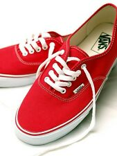 Vans Authentic Red White Mens Womens Shoes Sneakers  Skates Size 4.5-13