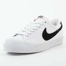 NIKE ALL COURT LOW VNTG SNEAKERS WHITE BLACK WHITE 407327 101