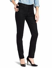 NEW NYDJ Not Your Daughters Jeans SHERI Skinny black Geometric pants sparkle 16P