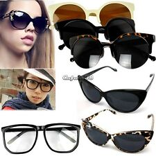 Vintage Womens Classic Cat Eye Designer Fashion Shades Black Frame Sunglasses